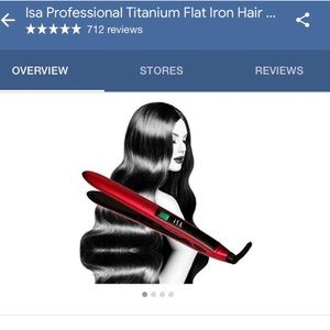 Accessories - Red ISA flat iron